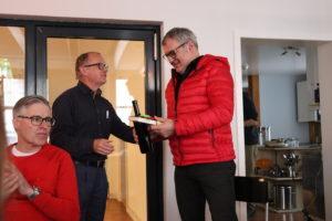Bruno Facci gratuliert KR Christoph Thurnherr zur Wiederwahl